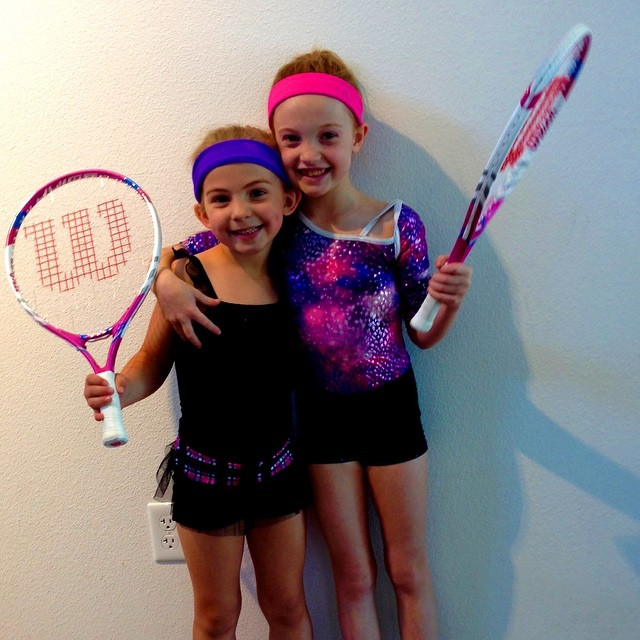 Move over Venus and Serena! These #10andunder sisters are getting into the game!!